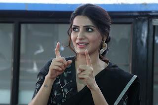 Actress Samantha Akkineni At Jaanu Press Meet Stills
