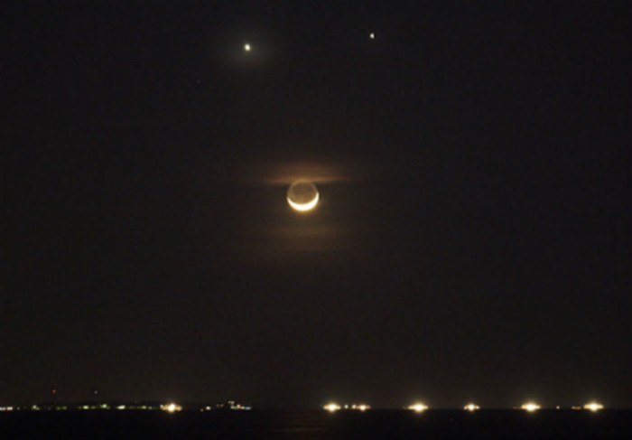 Watch the meeting of spectacular Moon, Jupiter and Venus