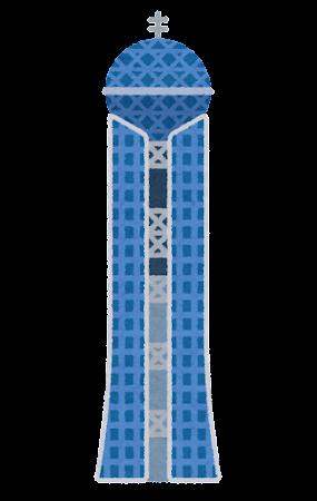 山口県国際総合センターのイラスト