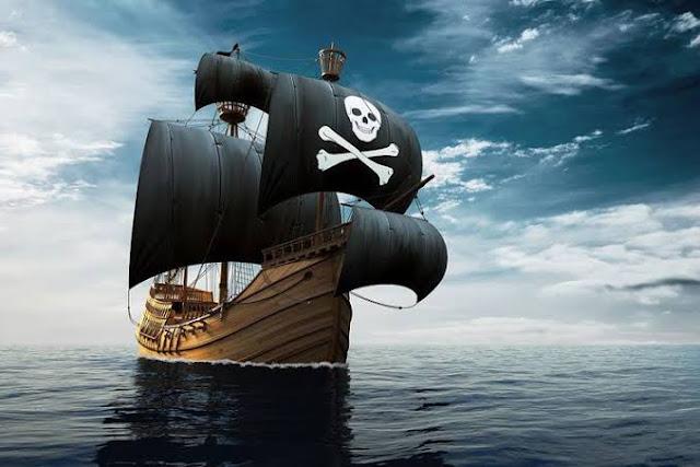 Ilustrasi kapal bajak laut.