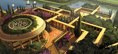 Una representación muy moderna de los jardines de Babilonia.