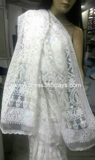Heavy Chikankari embroidery Net Saree