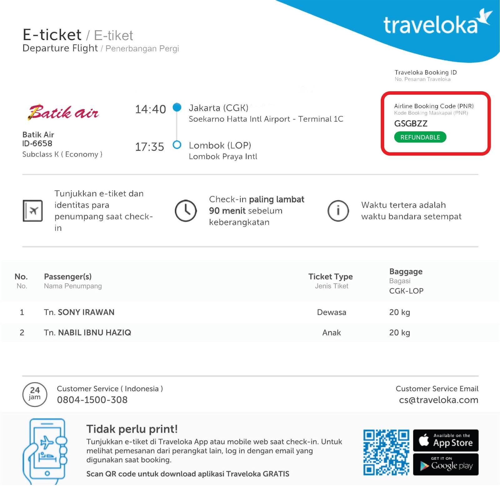 Saya Keluarga Web Check In Batik Air Dan Lion Air