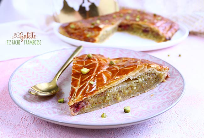 galette des rois pistache framboise