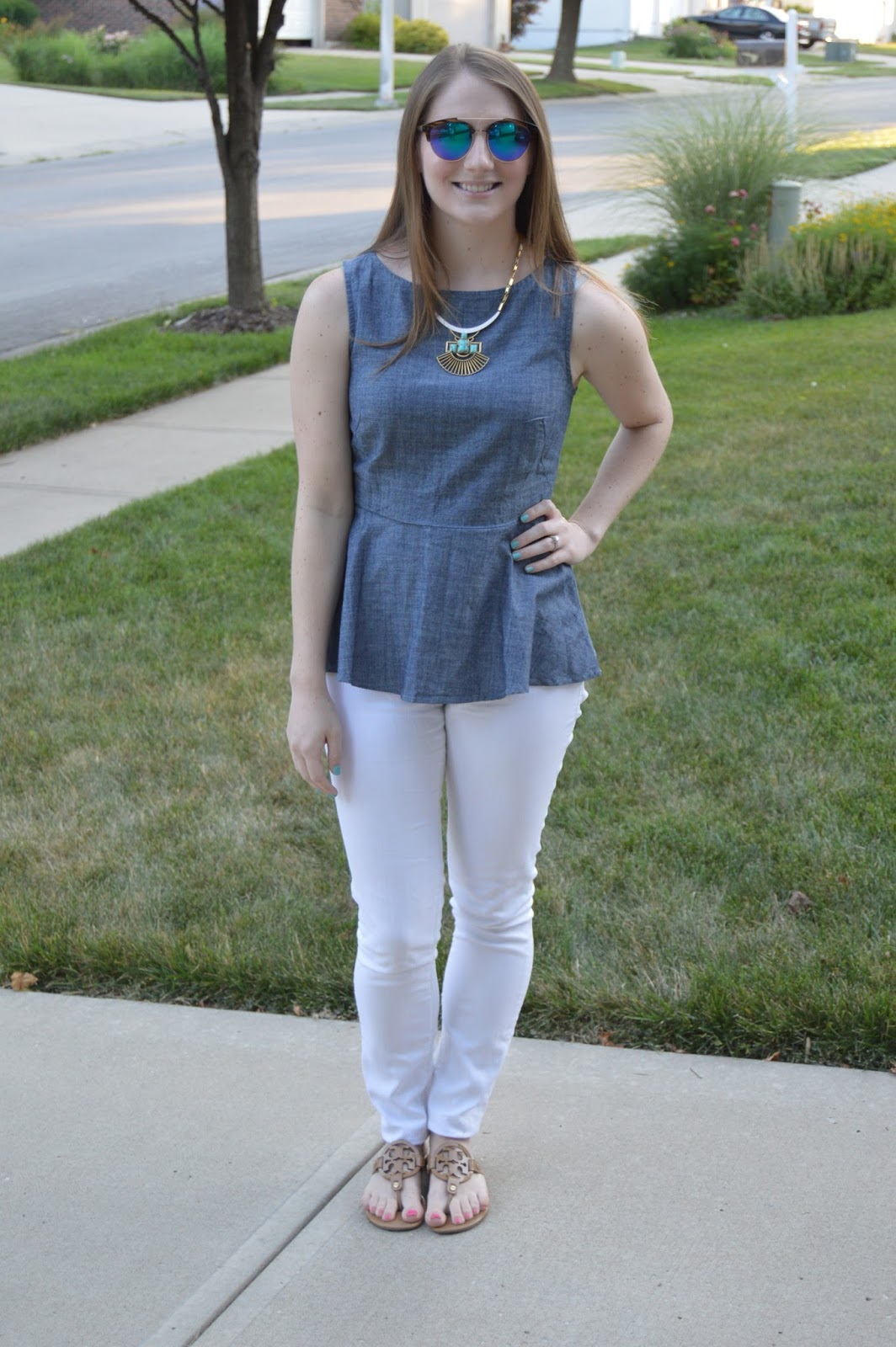 summer outfit ideas with white jeans | a memory of us | kansas city fashion blog | what to wear this summer | summer lookbook | what to wear with white jeans |