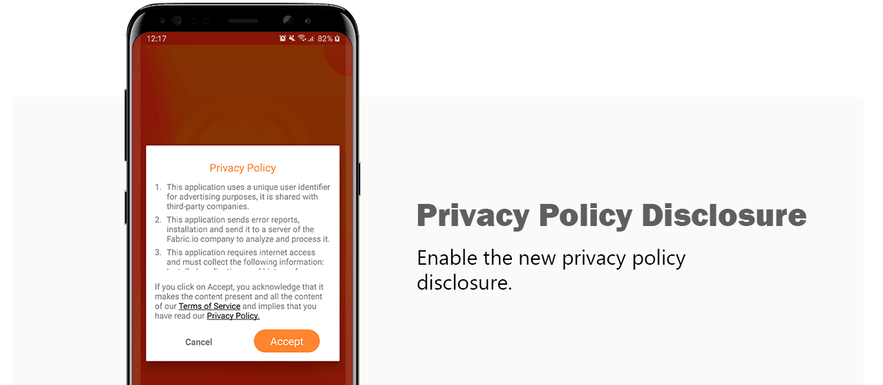 Cash Wall Privacy Policy Disclosure