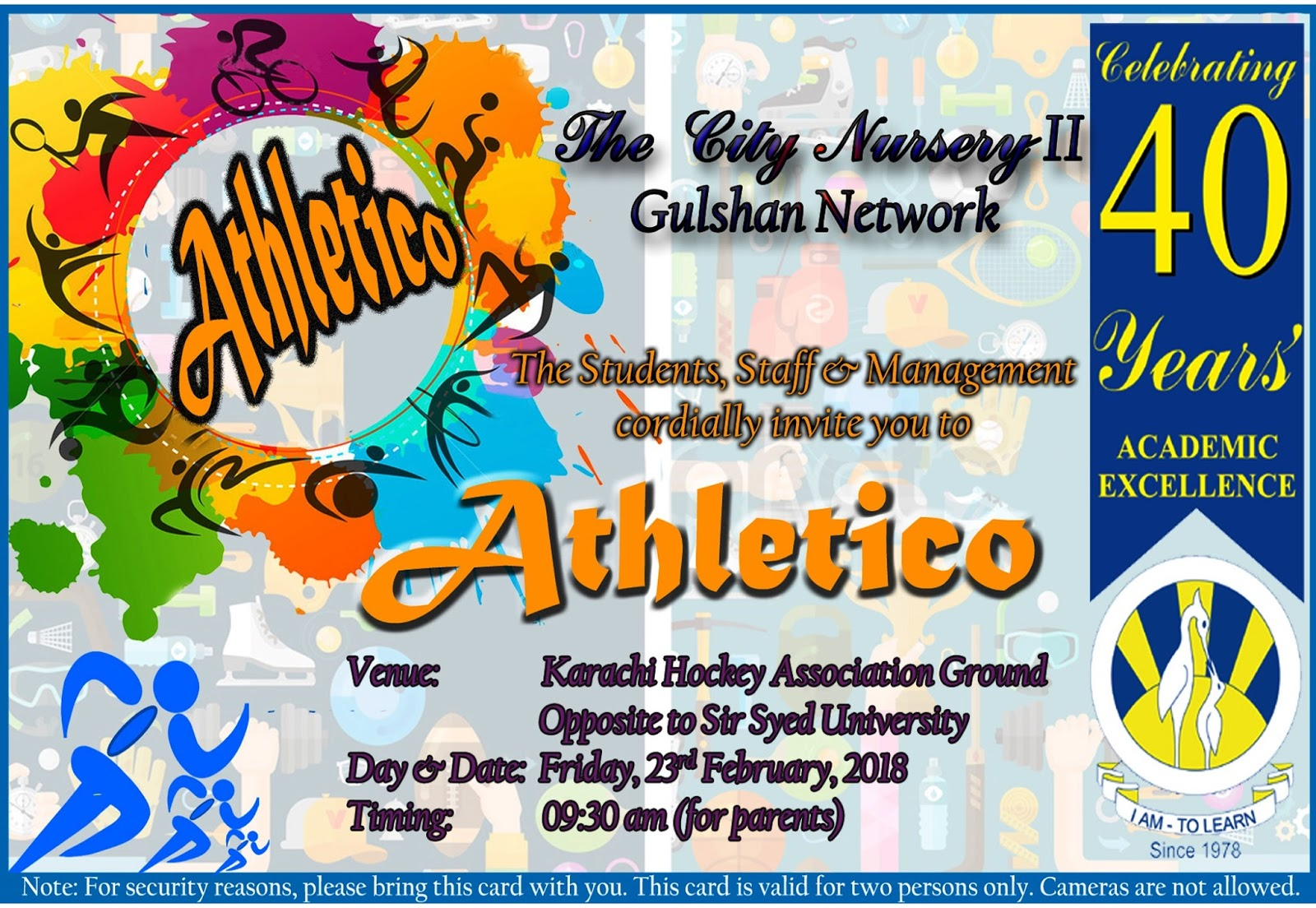 Sr gulshan the city nursery ii sports day invitation card and circular sports day invitation card and circular stopboris Images