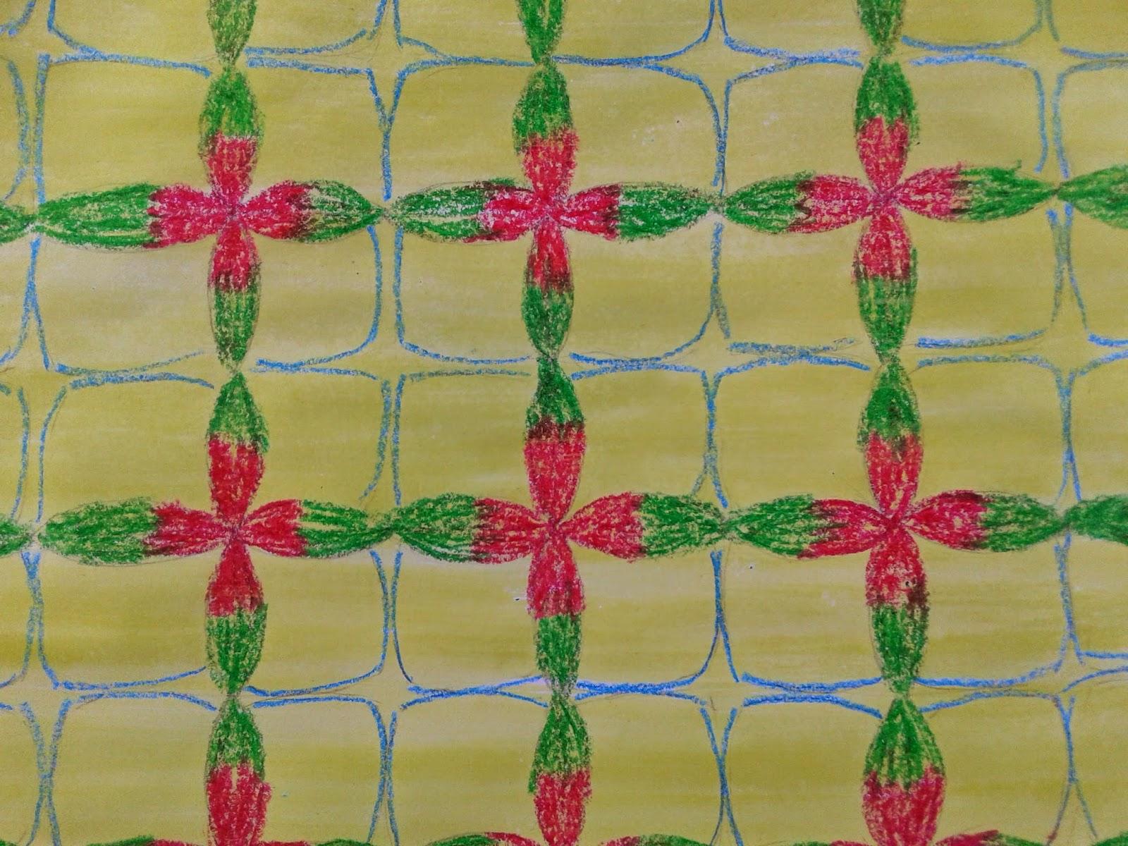 Kumpulan Soal Pelajaran 4 Mewarnai Batik Dengan Crayon
