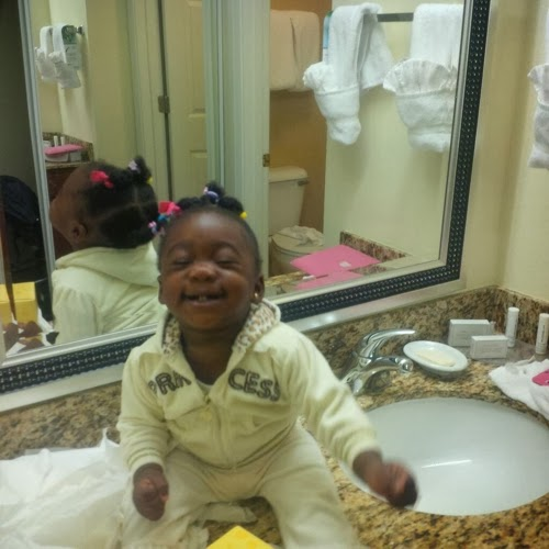 mercy johnson daughter in toilet
