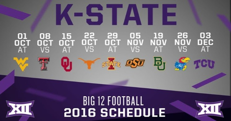 This Colorful Life K State Football Schedule 2016
