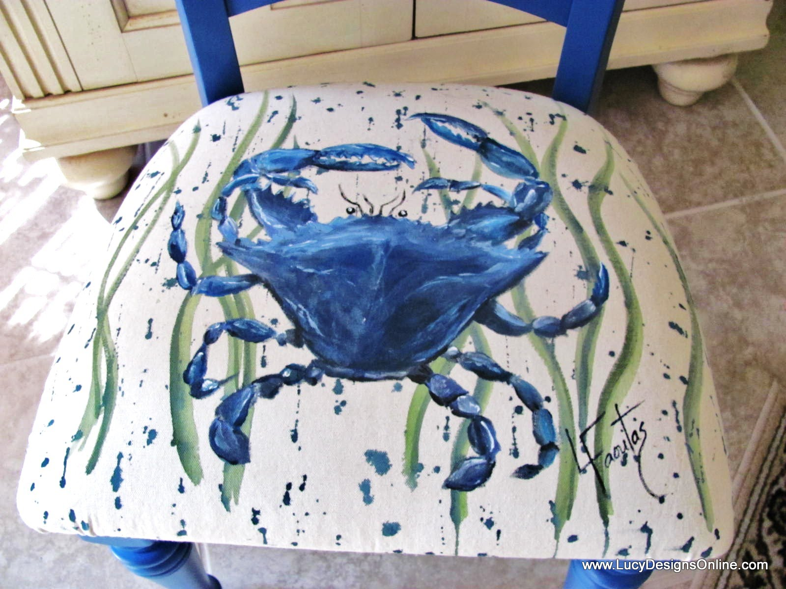 How To Paint On Fabric Hand Painted Designs Chair