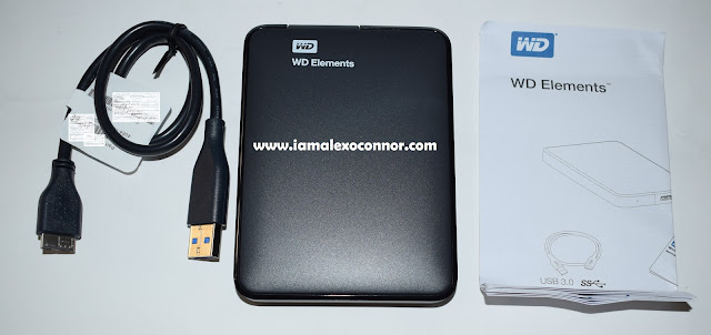 WD Elements Hard Drive unboxing, testing and review by Alex