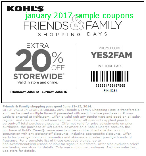 Kohls coupon code