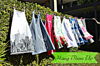 aprons drying in the sun