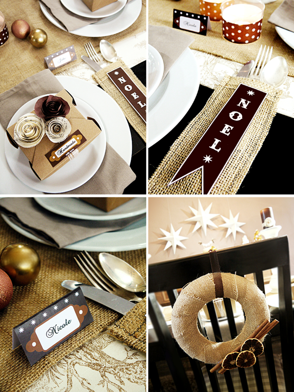 Handmade Holiday Party for HGTV with Free Printables - BirdsParty.com