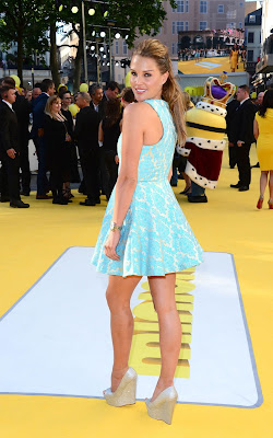 Danielle Lloyd in a short dress at the 'Minions' World Premiere in London