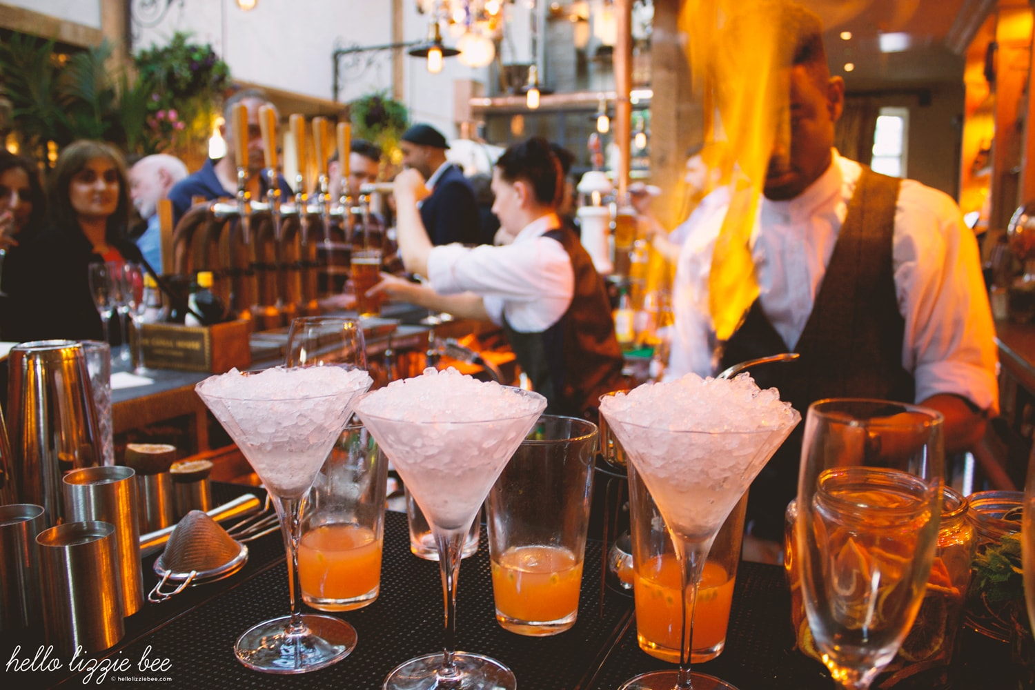 The Canal House, Birmingham, James Brindley, flaming cocktails