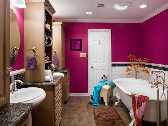 Wonderful Paint Design Bold Bathroom Color Ideas Images