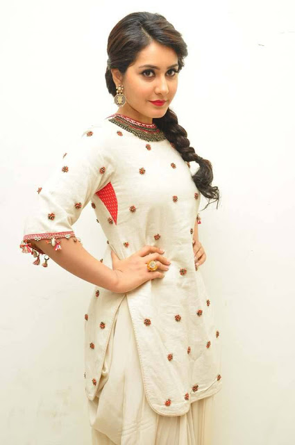 Rashi Khanna Latest Hot White Trendy Dress