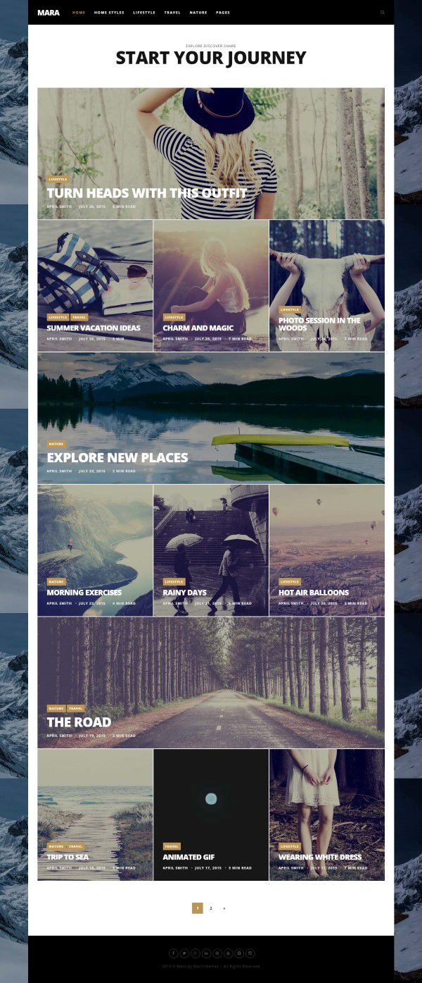 Mara - Beautiful Photo WordPress Blog Theme
