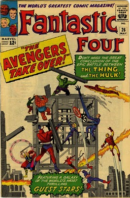Original comic book cover of Fantastic Four from Marvel Comics