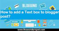 How to add a Text box to blogger post using HTML && CSS?