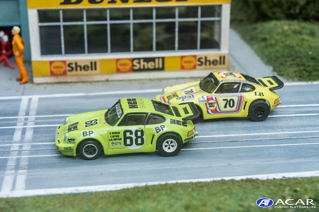 AFX Tomy Slot Car Custom 24h Le Mans Porsche 911 Carrera RS