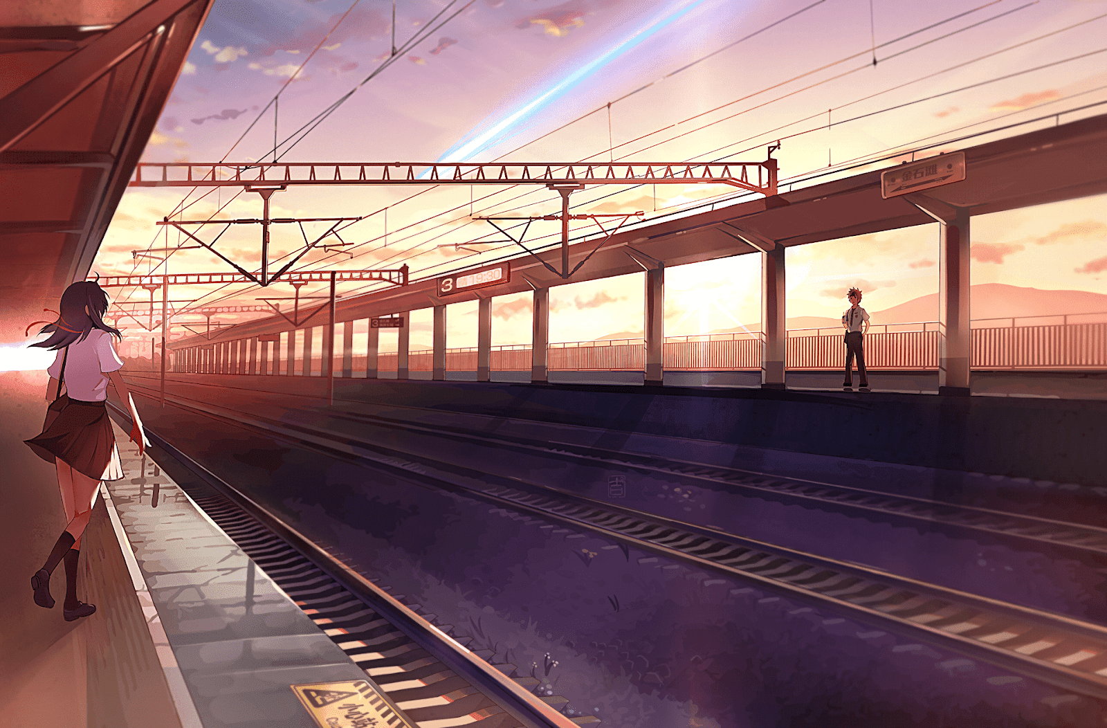 AowVN%2B%252838%2529 - [ Hình Nền ] Anime Your Name. - Kimi no Nawa full HD cực đẹp | Anime Wallpaper