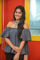 Mega Akash in a sleeveless Off Shoulder Cute Dress Stunnign beauty at Radio Mirchi Promoting Movie LIE ~ Celebrities Galleries 052.JPG