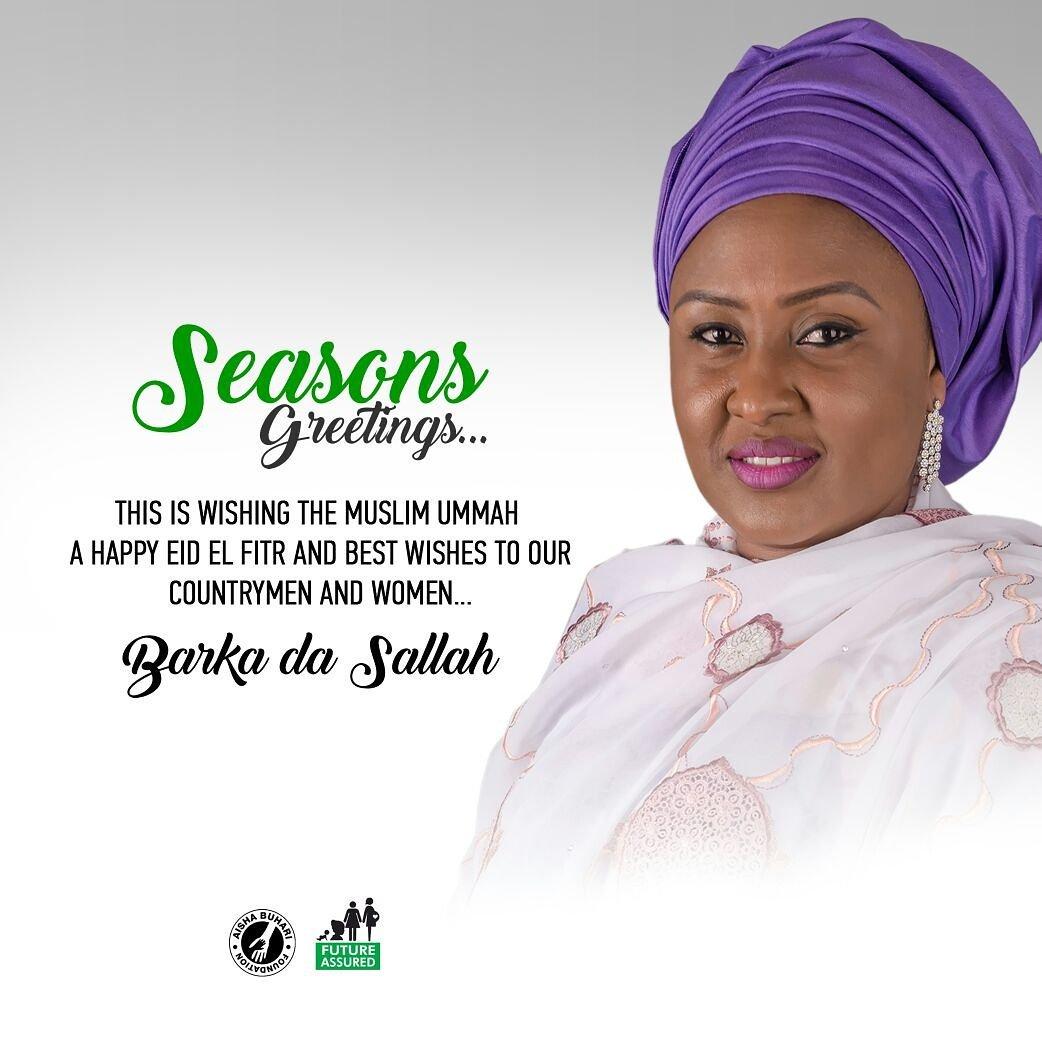 Welcome To Ugosmash Blog Aisha Buhari Wishes All Muslim A Happy Eid