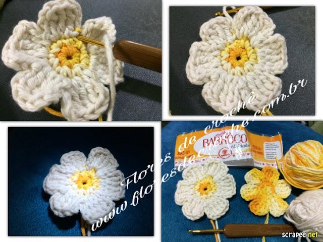 como fazer flores de croche barroco