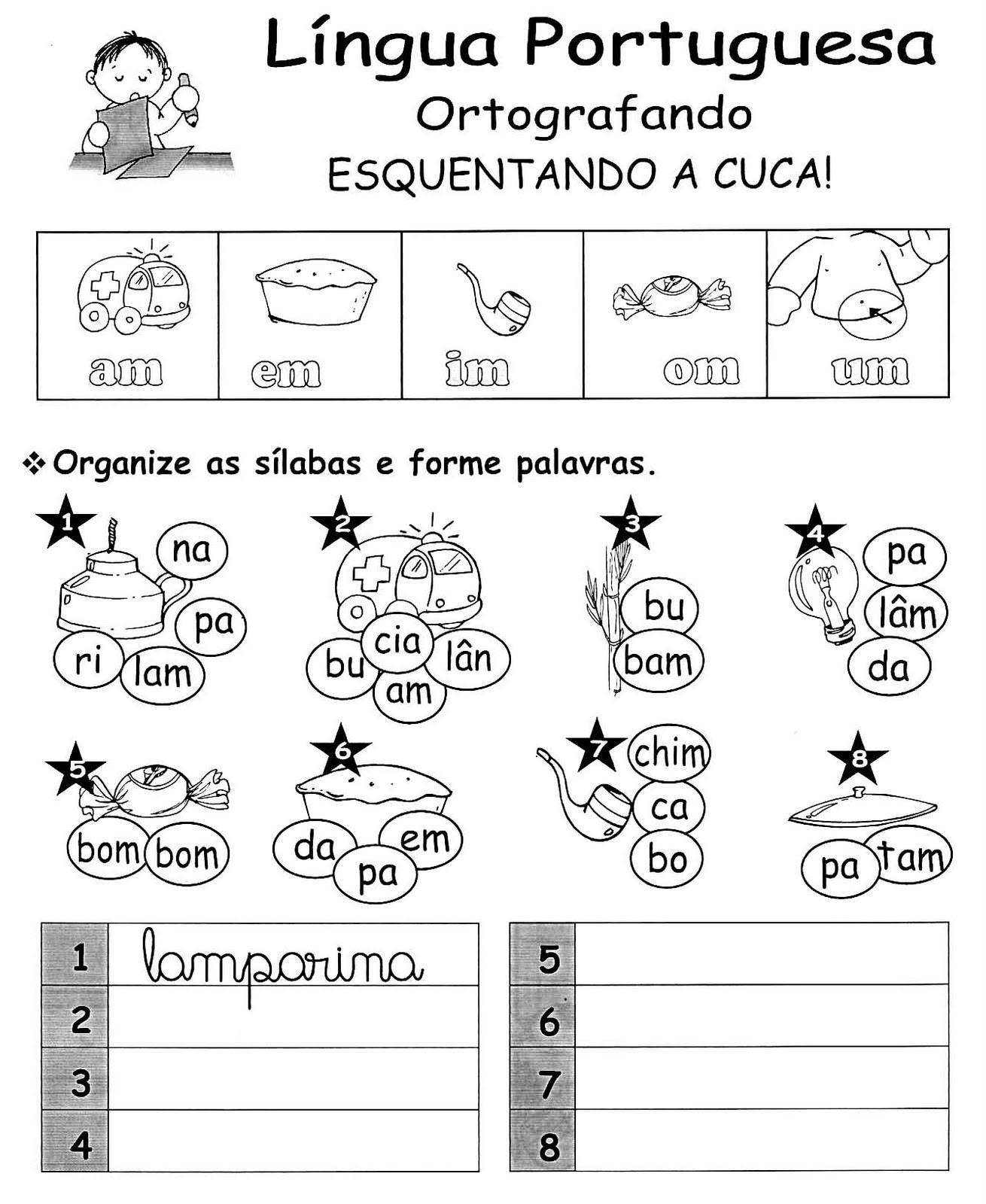 Blog Professor Zezinho Exercicios De Ortografia Mp Ou Mb