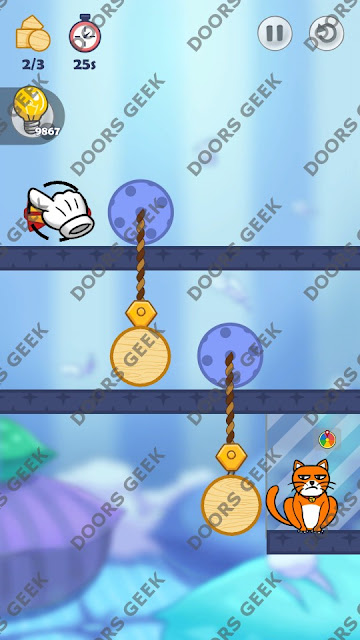 Hello Cats Level 67 Solution, Cheats, Walkthrough 3 Stars for Android and iOS