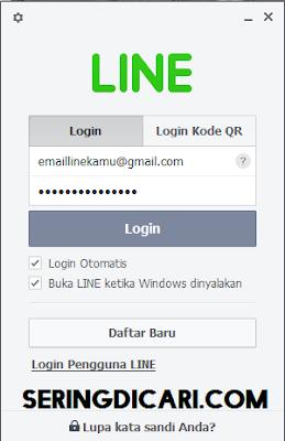Cara Login LINE via PC / Komputer