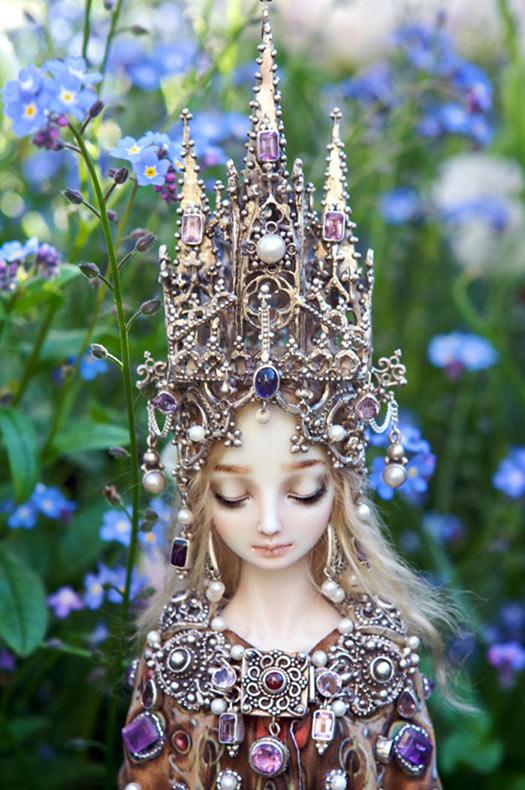 Muñecas de porcelana realistas llenos de tristeza por Marina Bychkova