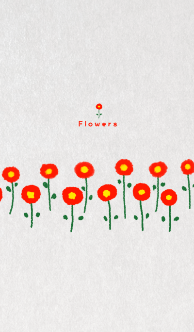 Flowers ~Like a collage with paper~