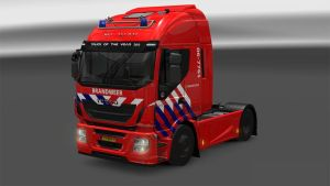 Dutch firetruck skin for Iveco Hi-Way