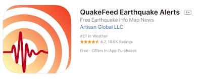 Aplikasi Pendeteksi Gempa QuakeFeed Earthquake Alerts