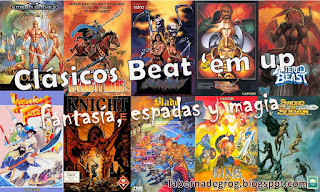Clásicos Arcades Beat 'em up de fantasía, espadas y magia