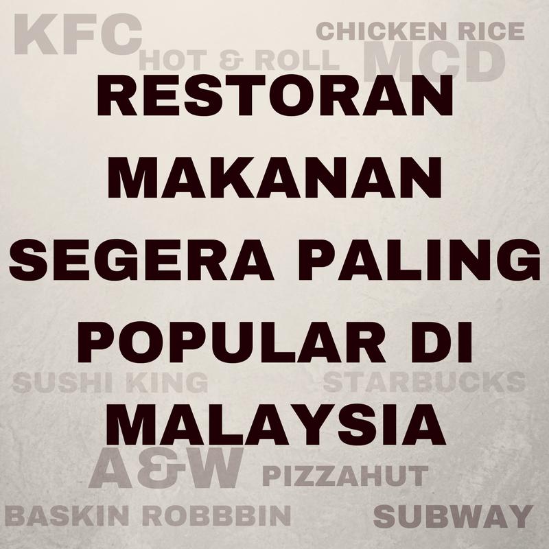 Restoran Makanan Dan Minuman Segera Paling Disukai Oleh Rakyat