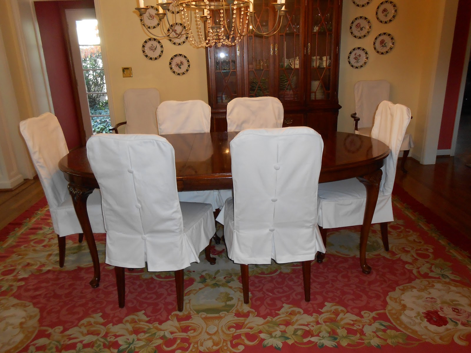 Custom Dining Chair Slipcovers Stackable Resin Patio Chairs Room And Parson