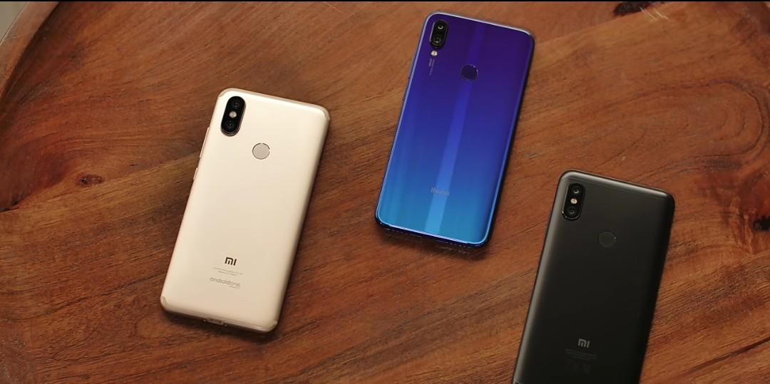 Xiaomi Redmi Note 7 vs Redmi Note 6 Pro vs Xiaomi Mi 8 design comparison