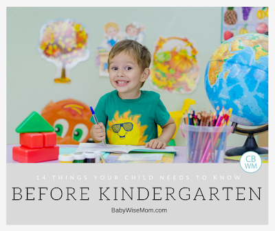 14 Things Your Child Needs to Know Before Kindergarten