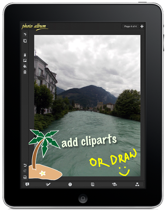 A Photo Book App that Lets you Edit Photo and Organize them on iPad | (example: Themes Hive)