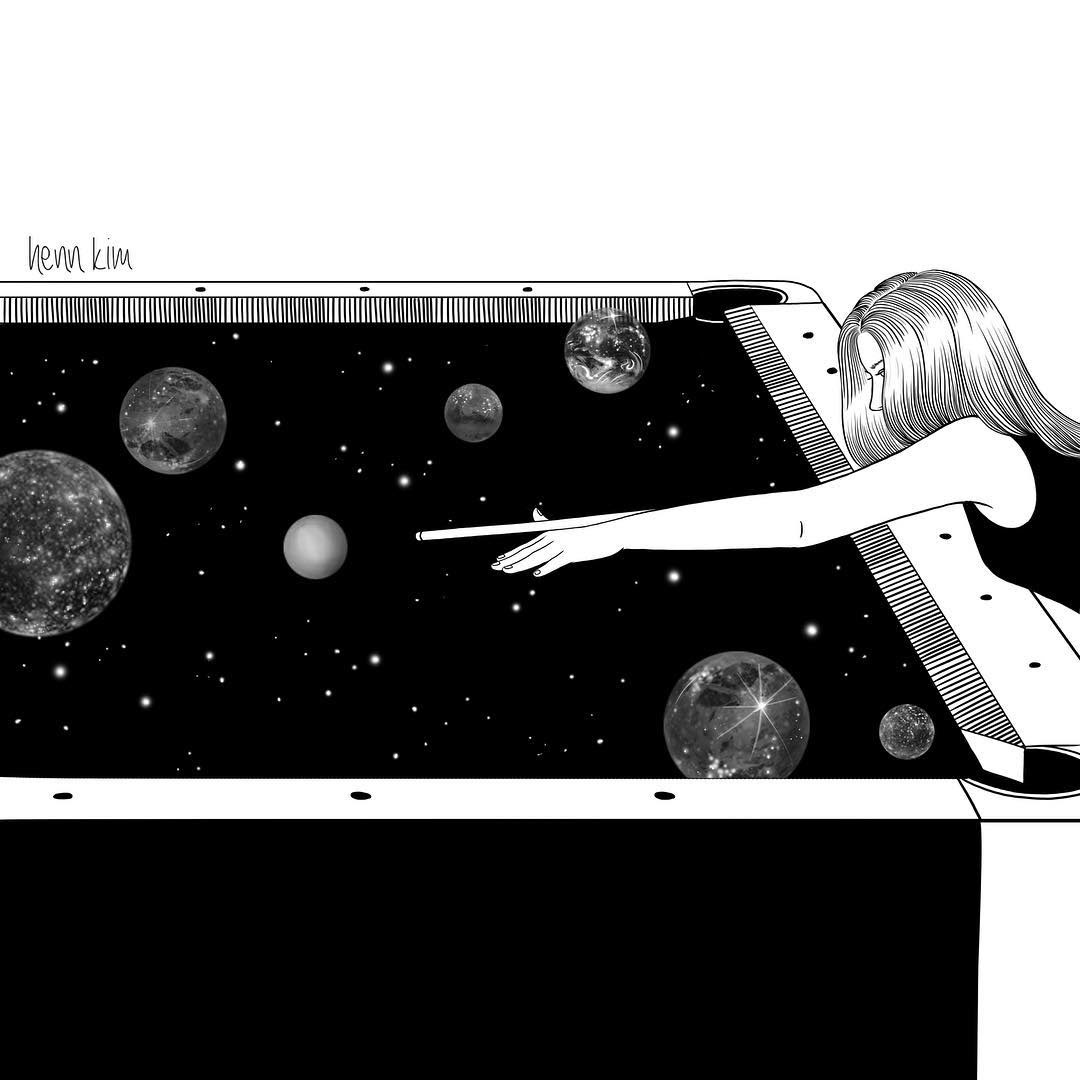 02-Big-Bang-Henn-Kim-Surrealism-Black-and-White-Symbolic-Illustrations-www-designstack-co