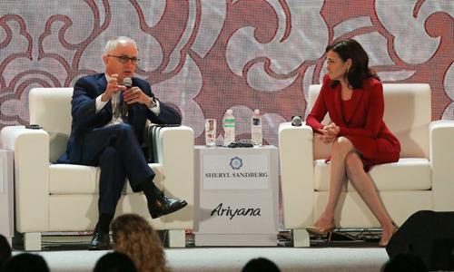 Thủ tướng Australia phát biểu tại APEC. Ảnh: Thái Khang.