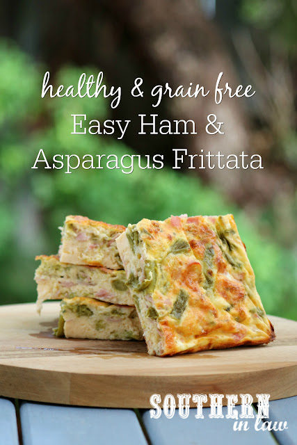 Healthy Ham and Asparagus Frittata Recipe – healthy, gluten free, grain free, low fat, low carb, clean eating recipe, spring easter brunch menu