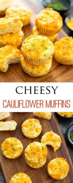 Cheesy Cauliflower Muffins Recipe