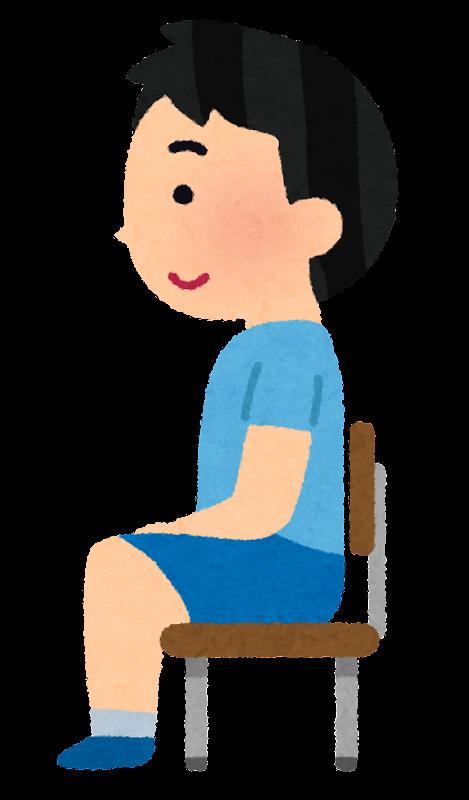 姿勢の良い 姿勢の悪い椅子に座る男の子のイラスト かわいいフリー素材集 いらすとや