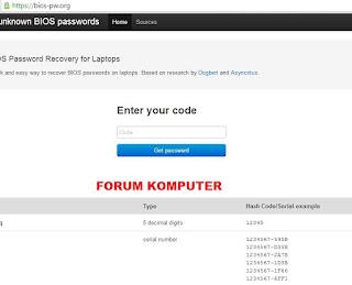 Cara Mudah Reset Password Bios Laptop
